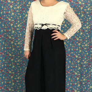 Pants - 80s Lace Top Jumpsuit